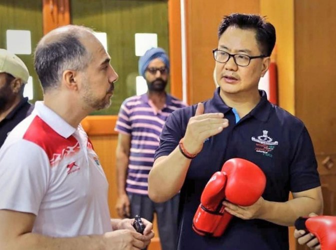 The Sports Authority of India campus in Gandhinagar will get a global standard high-performance training centre for para-athletes with focus on athletics, powerlifting, badminton and swimming, Minister of State for Youth Affairs and Sports Kiren Rijiju sa