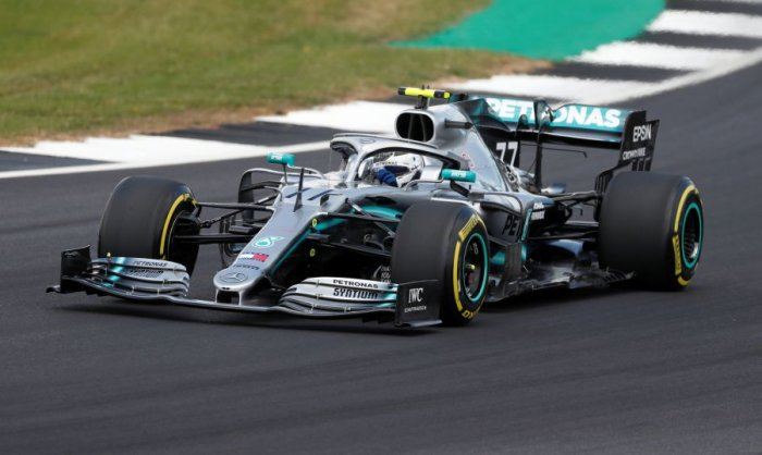 Finn Valtteri Bottas put Mercedes on top in Friday free practice for the British Grand Prix. Picture credit: Reuters