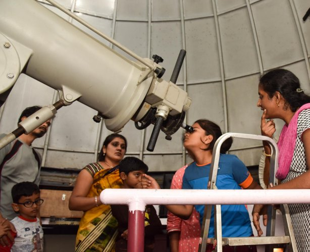 In order to educate high school students about Chandrayaan-2, the Jawaharlal Nehru Planetarium Science Club will hold an interactive awareness activity on July 14. DH PHOTO