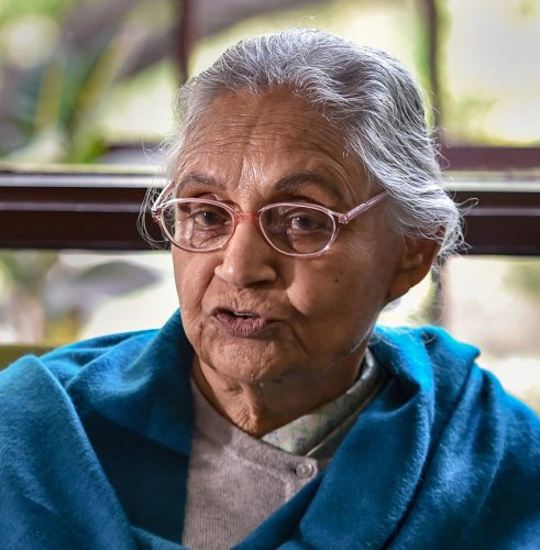 "Accusations are flowing thick and fast with a section claiming that the confidantes of Delhi Congress chief Sheila Dikshit, who is not in the best of her health, are running the show from ""behind the curtains"". (PTI File Photo)"