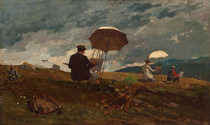 Winslow Homer's 'Sketching in the White Mountains'.