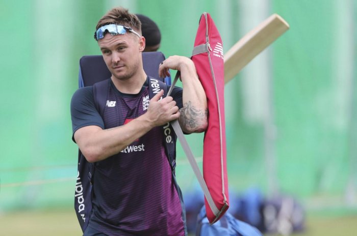 London: England's Jason Roy leaves after batting in the nets during a training session ahead of the Cricket World Cup final match against New Zealand at Lord's cricket ground in London, England, Saturday, July 13, 2019. AP/PTI