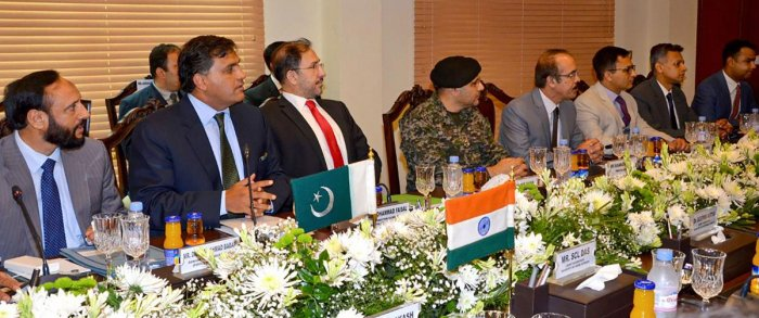 Members of the Pakistani delegation during the second round of talks between India and Pakistan (PTI Photo)