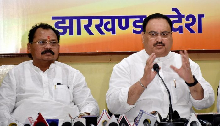 """Nadda said a new """"political culture"""" has emerged under Prime Minister Narendra Modi's leadership and those who are against the politics of 'vote bank and dynasty' are welcome to the BJP which is now an """"all-pervasive"""" party. (PTI Photo)"""