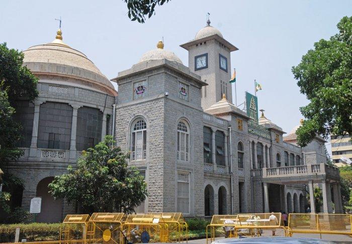 The Bruhat Bengaluru Mahanagara Palike (BBMP). DH file photo