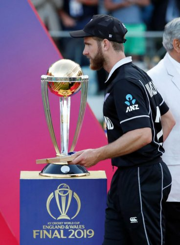 Kane Williamson couldn't lay his hands on the World Cup but he achieved a rare feat when he became the captain with the most number of runs in a single edition of the tournament (Reuters Photo)