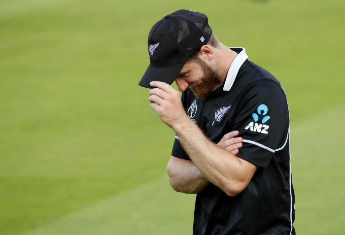 New Zealand's Kane Williamson looks dejected after England win the World Cup. Reuters