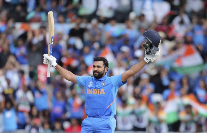 Rohit scored a record five centuries at the World Cup