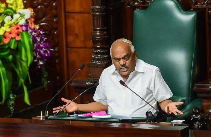 Karnataka Assembly Speaker K R Ramesh Kumar. PTI photo