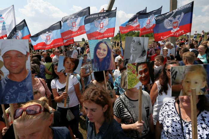 Families of the victims of flight MH17 marked five years on Wednesday since the crash, with calls for justice for the shooting down of the Malaysia Airlines plane over war-torn eastern Ukraine. Photo credit: Reuters