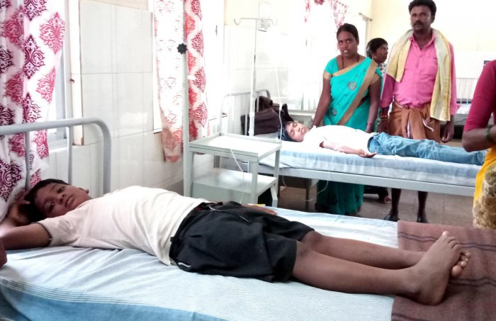 A boy admitted to hospital after having midday meal in a Ballari school.