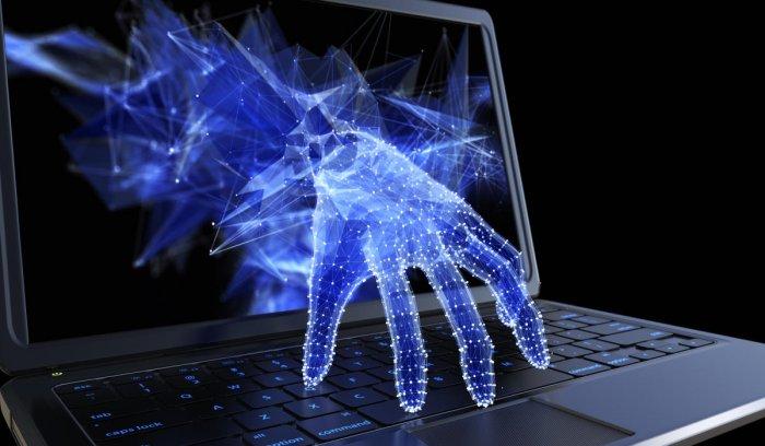 Stealing personal data through a laptop.