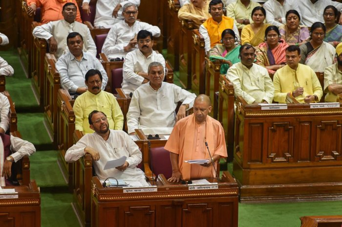 Uttar Pradesh legislature witnessed chaotic scenes on the first day of the monsoon session (PTI File Photo)