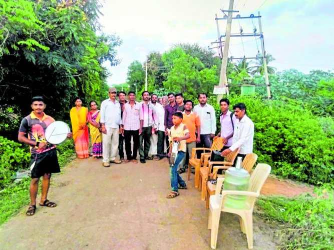 Residents of Maigoor in Jamakhandi taluk of Bagalkot district patrol the village to prevent open defecation.