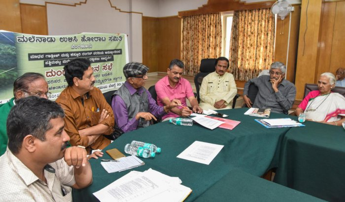 A roud table meeting on 'Save Western Ghats' in progress in Bengaluru on Thursday. DH photo