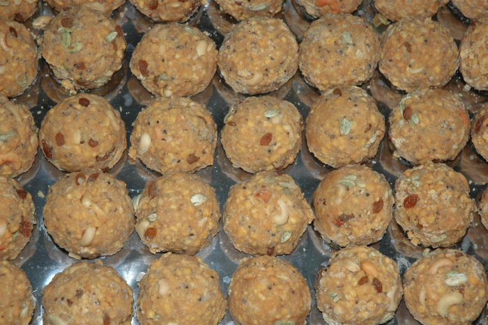 The unique taste and aroma of the Tirupathi laddus are reportedly attributed to the quality ghee being used in its preparation. dh photo