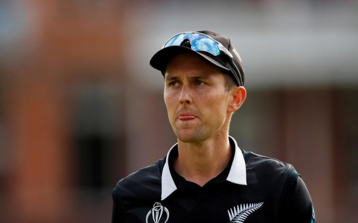 New Zealand's Trent Boult, shown in a file photo, is one of a small number of players to return home after they lost the World Cup final to England. Reuters