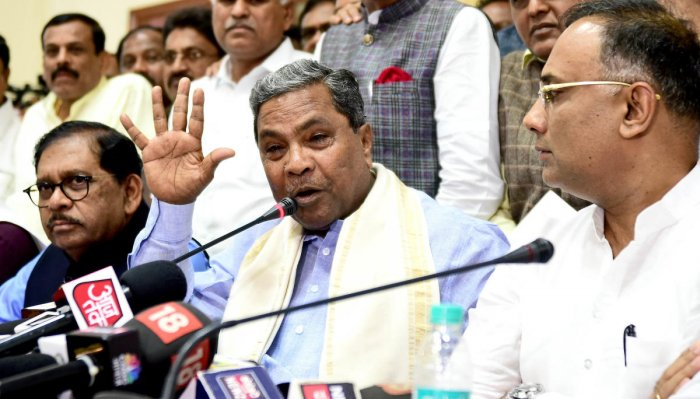Congress Legislature Party leader Siddaramaiah raised a point of order requesting the speaker to defer the trust vote as the interim Supreme Court order on the petition filed by rebel legislators lacked clarity.