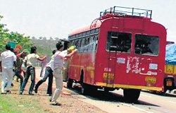 KRV activists attempt to set Maharashtra bus ablaze