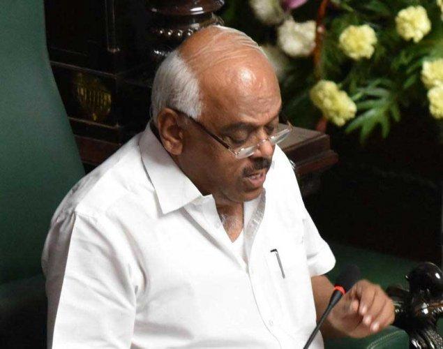 Karnataka Assembly Speaker KR Ramesh Kumar. DH file photo