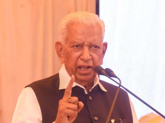 Karnataka governor Vajubhai Vala. DH file photo