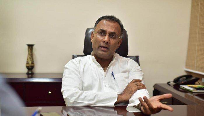 Karnataka Pradesh Congress chief Dinesh Gundu Rao. DH file photo