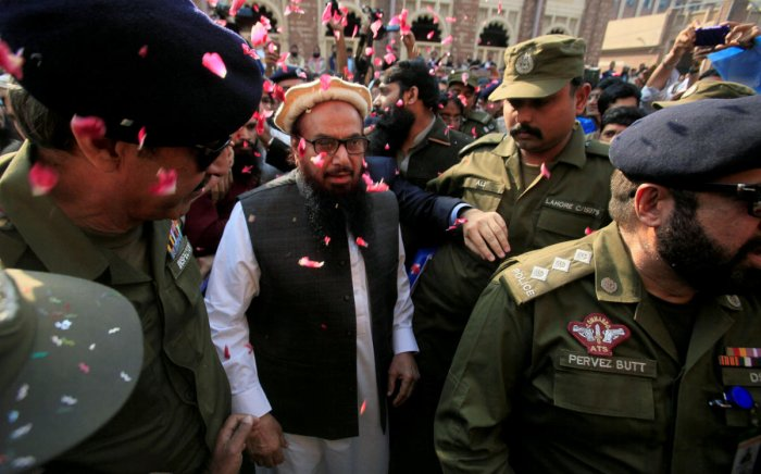 Saeed, a UN-designated terrorist was arrested on Wednesday, the seventh time since December 2001, when he was nabbed in the immediate aftermath of the terrorist attack on the Indian Parliament. (Reuters File Photo)