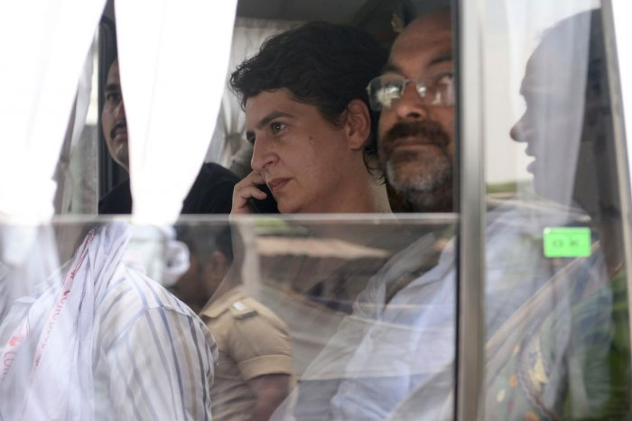 Priyanka Gandhi was detained and stopped from going to Sonbhadra in Uttar Pradesh on Friday. (AFP File Photo)