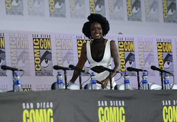 The 41-year-old actor, who portrays the role of Michonne in the long-running zombie drama series, shared the news during a panel discussion at the San Diego Comic-Con, according to The Hollywood Reporter. (AFP File Photo)