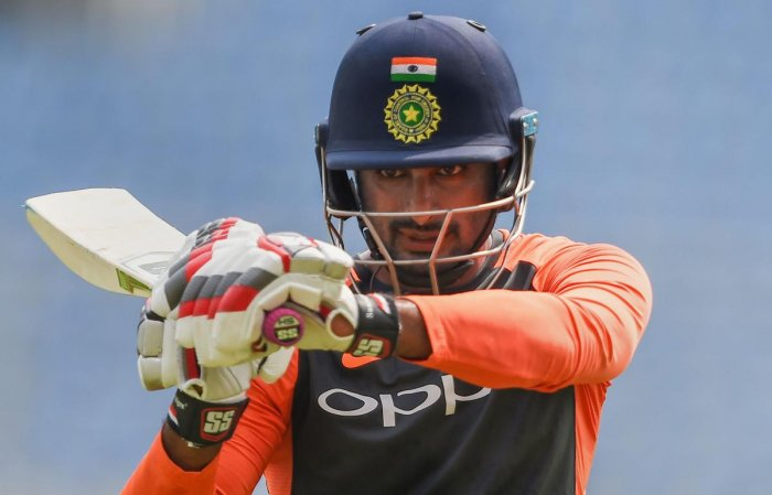 """Rayudu, who was till January being touted as India's No 4 for the World Cup, lost the spot to Tamil Nadu all-rounder Vijay Shankar, who was termed as a """"three dimensional player"""" by Prasad. (PTI File Photo)"""