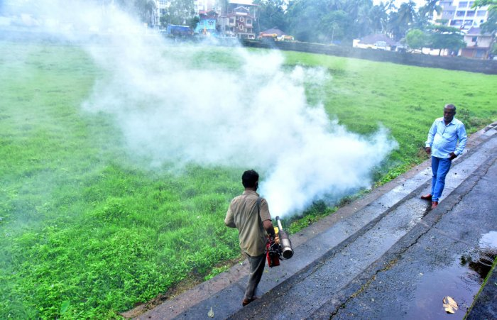 Fogging was taken up in the Gujjarakere area as a preventive measure to check dengue on Sunday.