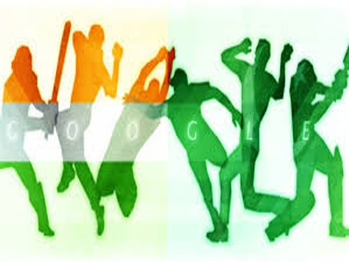 Google puts on India-Pakistan doodle for World Cup match