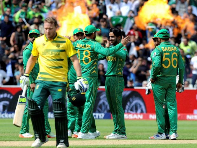Pakistan win rain-hit game after bowlers deliver goods