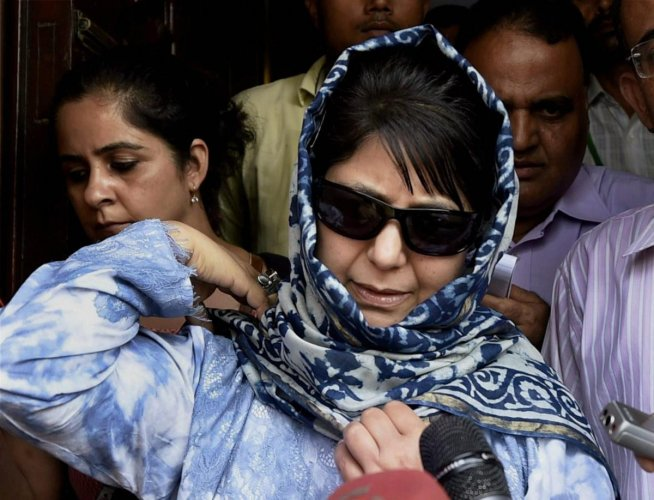 Mehbooba reviews security situation in Jammu and Kashmir