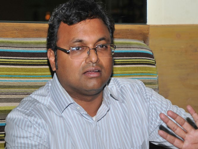 """The ruling party—the BJP –has 303 MPs in this House and 303 has many connotations. IPC 303, many lawyers here would know, refers to the death sentence. I hope the government will not use their 303 to give a death sentence to the spirit of RTI,"" Karti said while participating in a debate on the Right to Information (Amendment) Bill, 2019. (DH File Photo)"