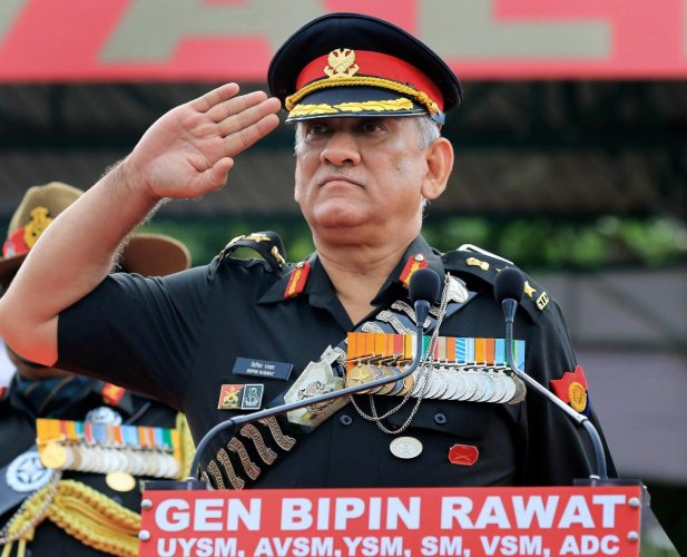 Army Chief General Bipin Rawat during the centenary celebration of Battle of Haifa 1918-2018 , at 61 Cavalry Ground in Jaipur, on Saturday. PTI