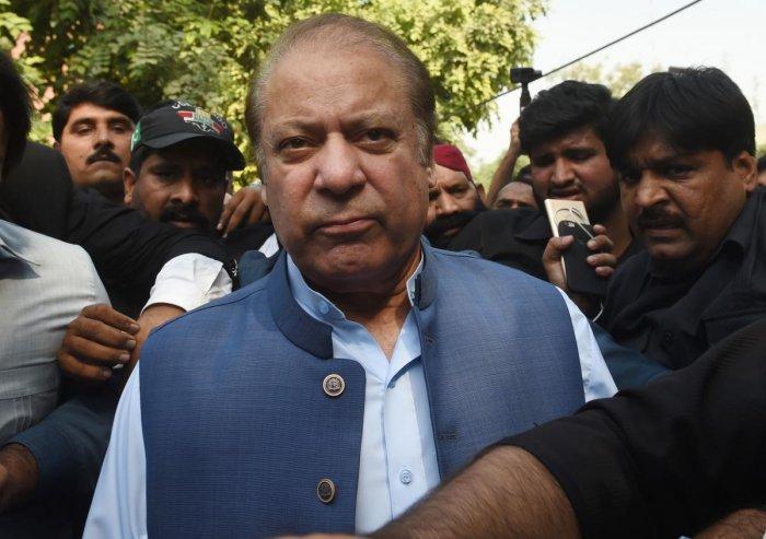 Pakistani former prime minister Nawaz Sharif (AFP file photo)