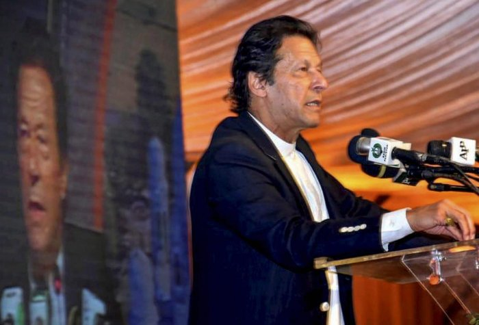 """On the occasion of Pakistan's founder Mohammad Ali Jinnah's birth anniversary on Tuesday, Khan said that Jinnah had envisaged Pakistan as a """"democratic, just and compassionate"""" nation. (PTI File Photo)"""