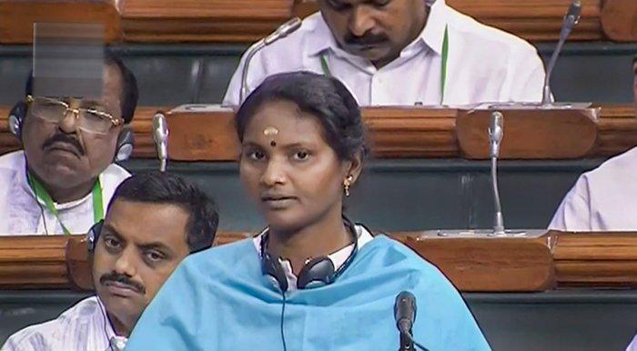 Ramya Haridas, MP from Alathur, Kerala. (LSTV/PTI Photo)