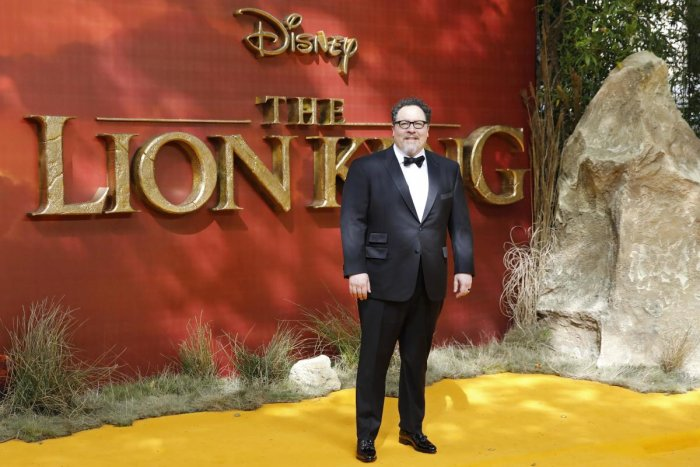Director Jon Favreau poses on the red carpet upon arriving for the European premiere of the film The Lion King in London (AFP Photo)