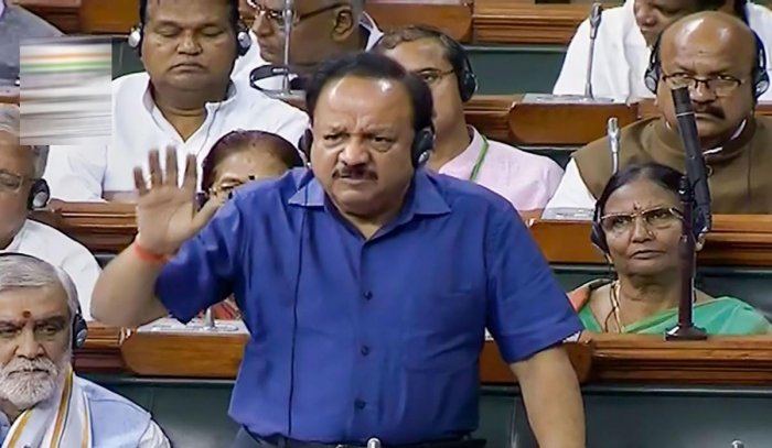 File picture of Health Minister Harsh Vardhan. Photo credit: PTI