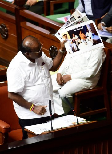 "The BJP on Monday asked Karnataka Chief Minister H D Kumaraswamy ""to resign and go"" if he has faith in the Constitution and people of the state, as the confidence motion moved by him in the Assembly dragged on for the third day. (PTI File Photo)"