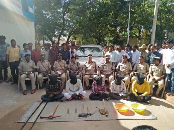 Koppal police nabbed 5 miscreants for vandalising Nava Brindavana.