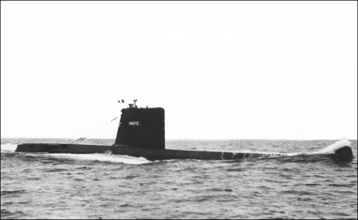 The submarine La Minerve, which disappeared 50 years ago, has been found off the coast of Toulon, southern France. (AFP File Photo)