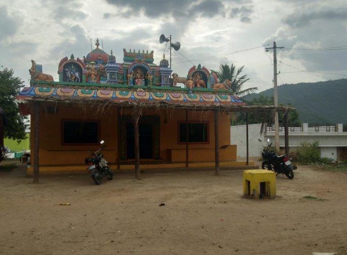 Maramma temple in Hoogyam village, Hanur taluk, Chamarajanagar district. (DH Photo)