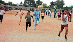 Young athlete impresses at sports meet