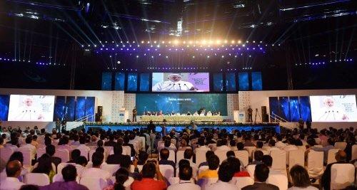 Sports stadium proves small for Modi's Digital India launch