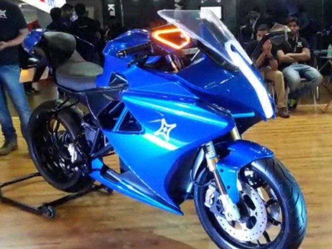 Electric Sports Bike >> Bengaluru Based Startup Launches First E Sports Bike Deccan Herald