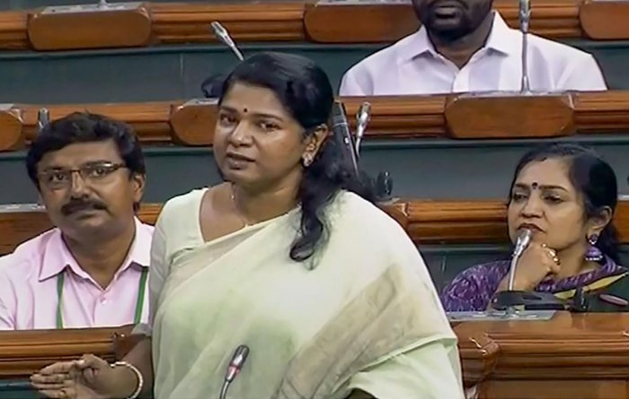 In Lok Sabha, DMK's Kanimozhi and Trinamool Congress' Saugata Roy asked Transport and Highways Minister Nitin Gadkari, who was present in the House, to incorporate suggestions offered by their parties in the bill. PTI file photo