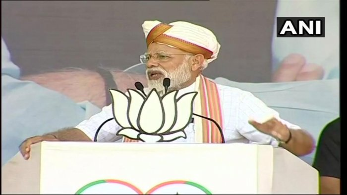 Prime Minister Narendra Modi on Tuesday held Congress responsible for the creation of Pakistan. ANI photo